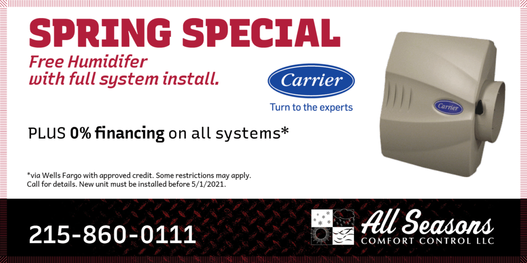 all seasons free humidifer spring special