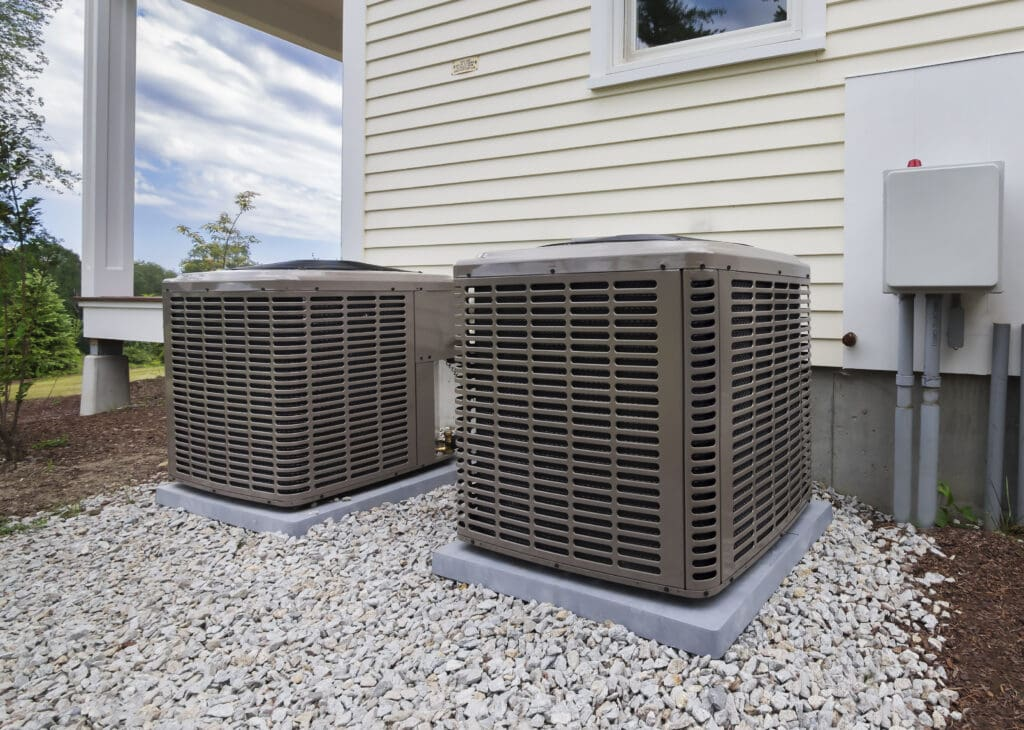 HVAC equipment for heating and air conditioning residential services